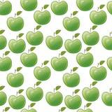 Zieleni jabłka. bezszwowy wzór Zdjęcie Stock