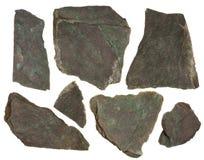 zieleni kawałków czerwieni skały łupku odcień Zdjęcia Stock