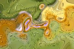 Zieleni, koloru żółtego i purpur fantazi tło, zdjęcia stock