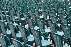 Zieleni krzesła Fotografia Stock