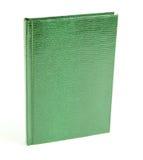 Zieleni książki w skóry pokrywie Obraz Stock