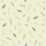 zieleni liść deseniują bezszwowego Zdjęcie Royalty Free