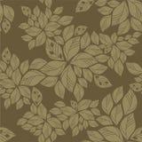 zieleni liść wzór bezszwowy Obrazy Stock