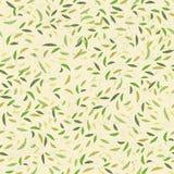 zieleni liść wzór bezszwowy wektor Obraz Stock