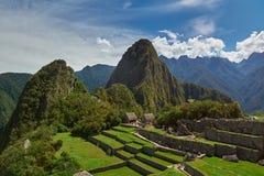 Zieleni Machu Picchu tarasy Zdjęcia Stock