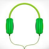 zieleni hełmofony Zdjęcia Stock