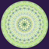 Zieleni mozaiki świetny mandala dla energii i władzy uzyskuje mandala dla medytaci szkolenia Obraz Royalty Free