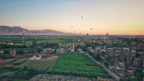 Zieleni pola Luxor fotografia stock