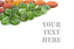 zieleni pomarańczowi kamienie Zdjęcie Stock