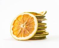 zieleni pomarańczowi plasterki Zdjęcie Royalty Free