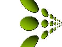zieleni punkty Zdjęcie Royalty Free