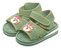 zieleni sandały Fotografia Stock