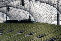 Zieleni siedzenia przy Olimpijskim stadium Monachium Niemcy Fotografia Royalty Free