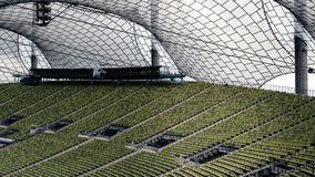 Zieleni siedzenia przy Olimpijskim stadium Monachium Niemcy Obraz Stock