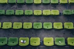 Zieleni siedzenia przy Olimpijskim stadium Monachium Niemcy Obrazy Stock