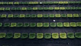 Zieleni siedzenia przy Olimpijskim stadium Monachium Niemcy Fotografia Stock