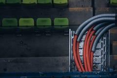 Zieleni siedzenia przy Olimpijskim stadium Monachium Niemcy Zdjęcie Stock