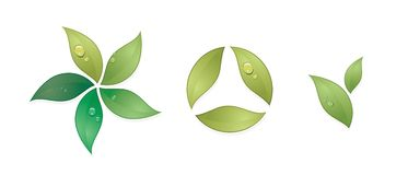 zieleni symbole wektorowi ilustracji