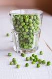 zieleni szkło grochy Zdjęcia Royalty Free