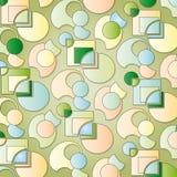 zieleni tło kształty Obraz Stock