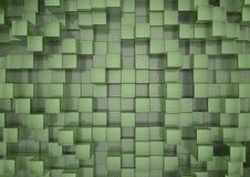 zieleni tło kwadraty Zdjęcia Stock