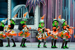 Zieleni włosiani i komiczni kostiumy zdjęcia royalty free