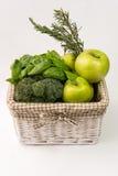 Zieleni warzywa koszykowi Fotografia Royalty Free
