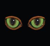zieleni wektorowi kotów oczy ilustracji
