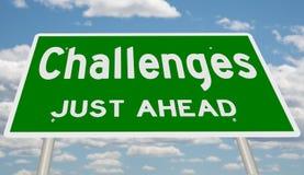 Zieleni wyzwania Właśnie Naprzód ilustracja wektor