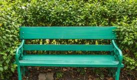 Zielenieje ławkę Fotografia Stock