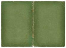 Zielenieje dwa stron grunge papieru pokrywę z pełnoletnimi ocenami Zdjęcia Royalty Free