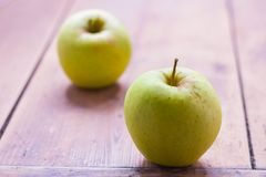Zielenieje jabłka zdjęcie stock