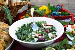 zielenieje sałatkowych warzywa Zdjęcia Stock