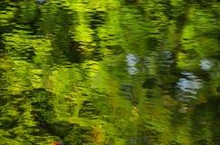 Zielenieje wodnego tło Fotografia Stock