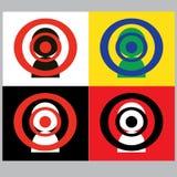Zielgruppenorientiertes Marketing oder Publikumspersonenlogo Stockbild