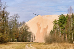 Zielitz potash salt dump Royalty Free Stock Photos