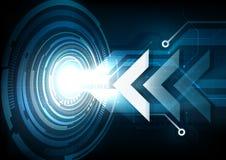 Zielkonzept mit Pfeilzusammenfassungs-Technologiehintergrund stockbilder