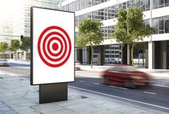 Zielkonzeptplakat auf der Stadt lizenzfreie stockbilder