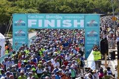 Ziellinie-Cape Town-Radtour Lizenzfreie Stockfotos