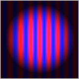 Ziellos-Farbeabstrakte Zusammensetzung mit Anschläge und ein schwaches Blaues Stockbilder