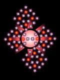 Ziellose grafische Zusammensetzung mit Sternen auf einem schwarzen Hintergrund Lizenzfreies Stockbild