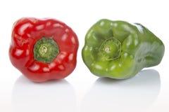 zieloną paprykę czerwony Obraz Stock