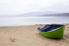 Zielona łódź Zdjęcie Stock