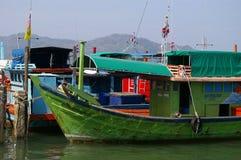 Zielona łódź Zdjęcie Royalty Free