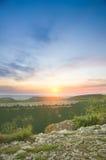 zielona łąkowa góra Fotografia Royalty Free
