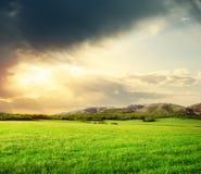 zielona łąkowa góra Obrazy Stock