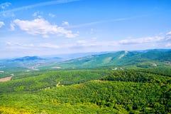 zielona łąkowa góra Zdjęcie Royalty Free
