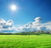 zielona łąkowa góra Fotografia Stock