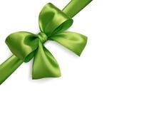 Zielona łęku bielu przekątna Fotografia Stock