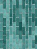 Zielona ściana z cegieł tekstura Zdjęcie Stock